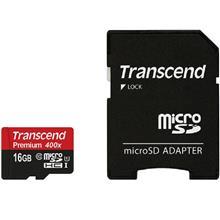 Transcend Premium 400x MicroSDHC Class 10 UHS-I Memory Card 16GB